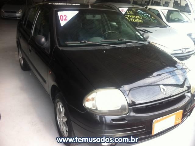 RENAULT CLIO SEDAN PRETO 2001/2002 GASOLINA EM CARAPICUÍBA